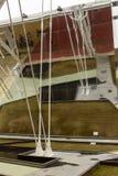 De structuur van het Decumanoijzer bij Rijstcluster wordt weerspiegeld, EXPO 2015 Mi die Stock Foto's