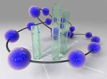 De structuur van het glas Stock Afbeeldingen