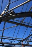 De structuur van het het Staalkader van het bouwstaalwerk Stock Afbeeldingen