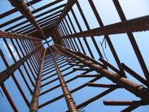 De structuur van het ijzer Stock Foto