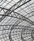 De structuur van het metaaldak Stock Foto