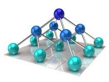 De structuur van het netwerk vector illustratie