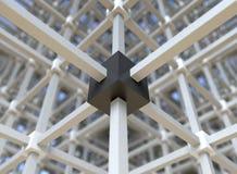 De structuur van het netwerk Stock Afbeeldingen