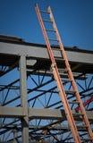 De Structuur van het staal en Ladder stock foto's