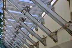 De structuurbouw van het staal in regelmatig Royalty-vrije Stock Fotografie
