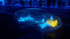 De structuuroverzicht van de stadsauto in draadstijl Stock Foto