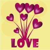 De struik van liefde Vector Illustratie