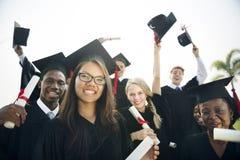 De Student School College Concept van de graduatievoltooiing stock foto