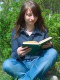 De student vóór onderzoek stock afbeeldingen