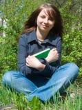 De student vóór onderzoek Stock Foto