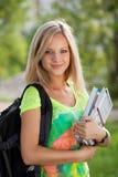 De student van Beautifull in park Stock Foto