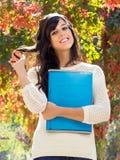 De student van de herfst het glimlachen Stock Afbeelding