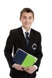 De student van de school met handboeken stock afbeelding