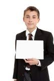 De student van de school met teken royalty-vrije stock afbeeldingen