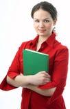 De student van de schoonheid met boek Stock Foto's