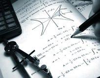 De student van de wiskunde Royalty-vrije Stock Afbeeldingen