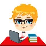 De Student van het Jonge geitje van Geek royalty-vrije illustratie