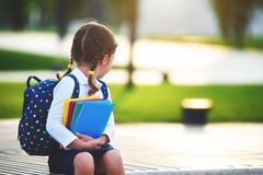De student van de het schoolmeisje basisschool van het kindmeisje Royalty-vrije Stock Foto
