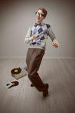 De danser van Nerd royalty-vrije stock afbeelding