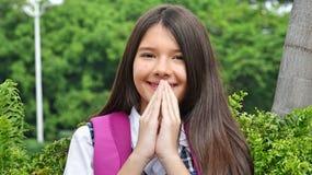 De Studente Praying van Latina royalty-vrije stock fotografie