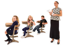 De Studenten en de Leraar van het klaslokaal Royalty-vrije Stock Afbeeldingen