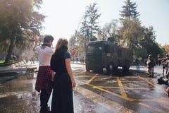 De studenten protesteren Onderwijswinst royalty-vrije stock afbeeldingen