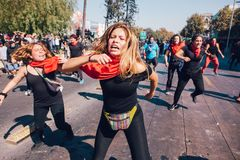 De studenten protesteren Onderwijswinst stock fotografie