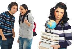 De studenten roddelen en gekscheren Stock Afbeelding