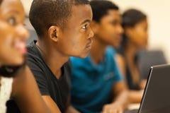 De studenten spreken ruimte Stock Afbeelding