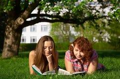 De studenten van de lezing royalty-vrije stock afbeeldingen