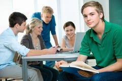 De studenten van de middelbare school Stock Foto's