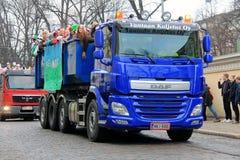 De Studenten van Helsinki vieren Penkkarit op Parade Royalty-vrije Stock Fotografie