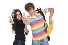 De studenten van tieners Stock Foto