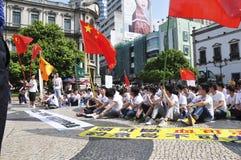 De studentendemonstraties van Macao royalty-vrije stock foto's