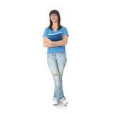 De studentenmeisje van de tiener met blocnote Royalty-vrije Stock Foto's