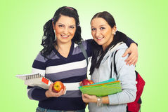 De studentenmeisjes van vrienden Stock Foto