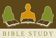De Studie van de bijbel Stock Illustratie