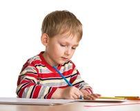 De studies van het kind te trekken Royalty-vrije Stock Afbeelding