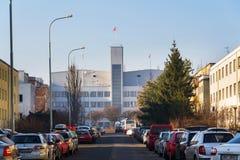 De studio'shoofdkwartier die van de Barrandovfilm - één van de grootste filmstudio's in Europa bouwen Royalty-vrije Stock Fotografie