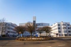 De studio'shoofdkwartier die van de Barrandovfilm - één van de grootste filmstudio's in Europa bouwen Stock Foto's