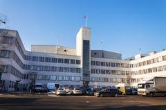 De studio'shoofdkwartier die van de Barrandovfilm - één van de grootste filmstudio's in Europa bouwen Royalty-vrije Stock Afbeelding