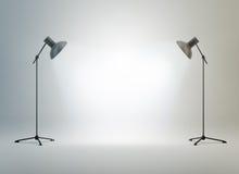 De studio van de fotografie met een licht Stock Afbeeldingen