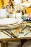 De studio van de kunstenaar Stock Foto's