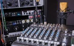 De Studio van de muziekopname Stock Foto's