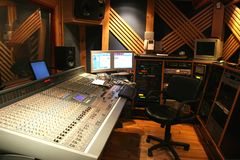 De studio van de opname stock foto's