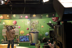 De studio van loterijtv Royalty-vrije Stock Foto's