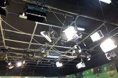De studio van loterijtv Stock Foto's