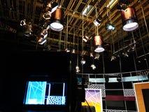 De studio van TV - de beeldzoeker van de Videocamera royalty-vrije stock fotografie