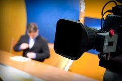 De studio van TV voor nieuws Stock Foto