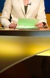 De studio van TV voor nieuws Stock Foto's